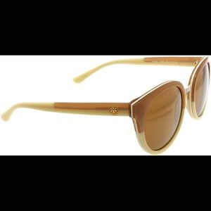 New Tory Burch Panama Sunglasses Khaki Praline